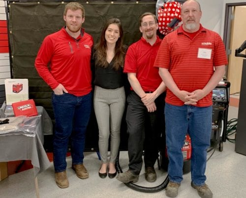 Customer Appreciation Day event organizers with Lincoln Electric Rep