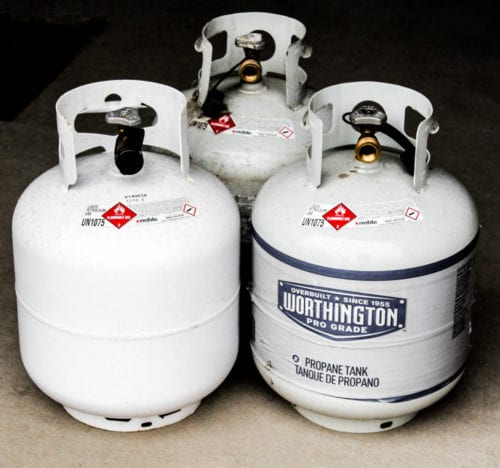 Propane tank for grilling