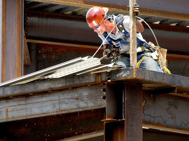 welding on construction site