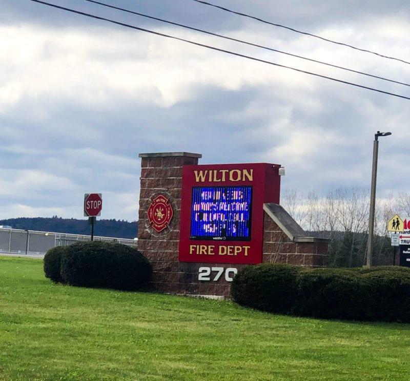 Wilton Fire Department entrance