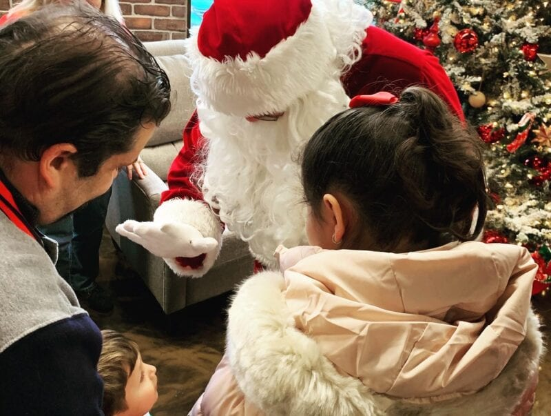 Santa surprises guests at Noble Gas