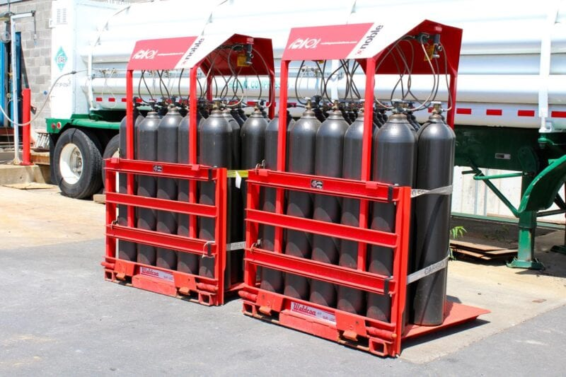 18-cylinder pack gas packaging